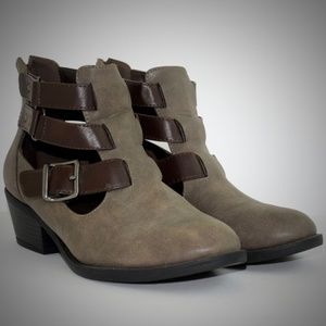 Soda Vegan Boots 9 Cut Out Buckle Ankle Multiple